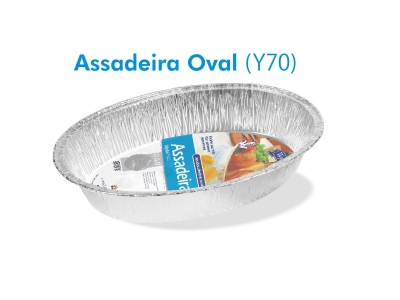 Assadeira oval 7 lts
